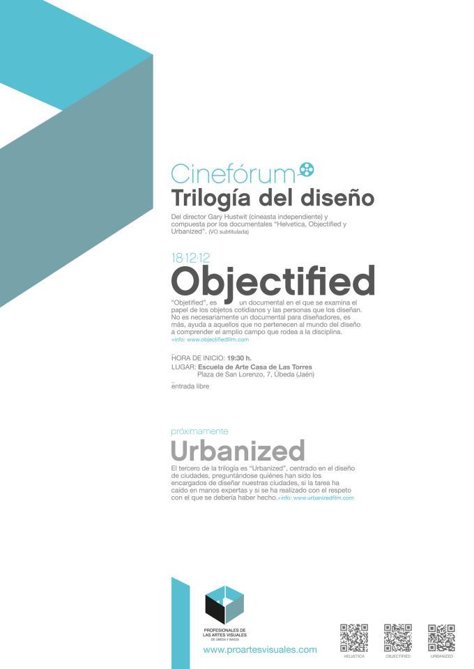 2ª proyección del cineforum de la trilogía del diseño «Objectified»