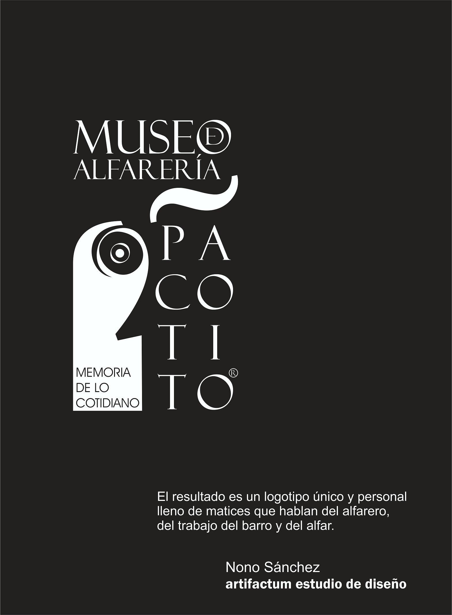 el diseño del nuevo logo del Museo de Alfarería «Memoria de lo Cotidiano» Paco Tito