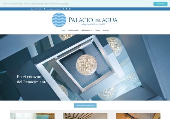 web para palaciodelagua.com